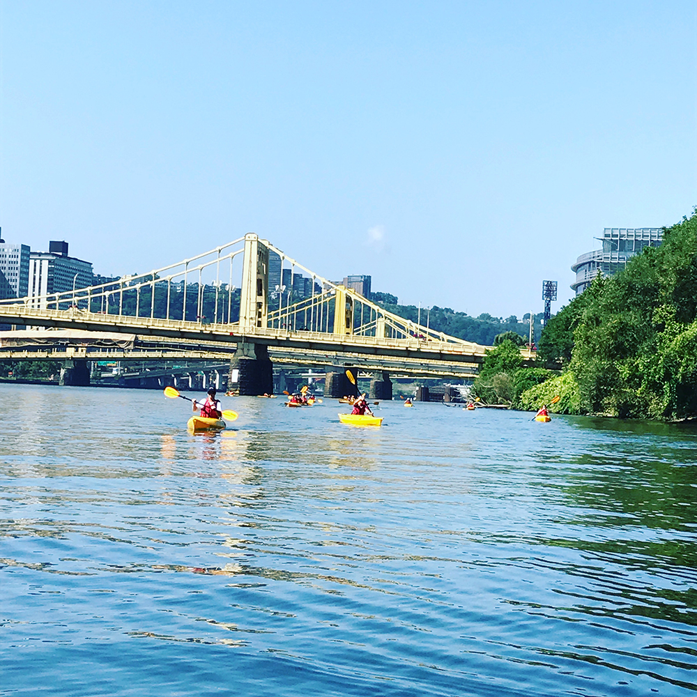 Kayaking on the Allegheny River