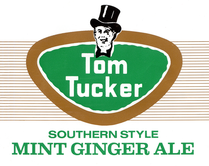 The current label of Tom Tucker Mint Ginger Ale, a staple of Western Pennsylvania pop drinkers.