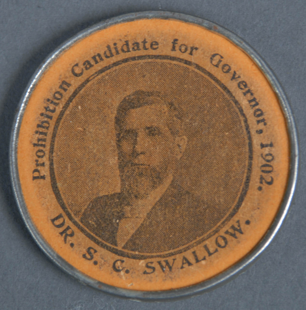 Dr. Silas Swallow was a frequent Prohibition candidate for Governor in Pennsylvania, and was the Prohibition party's candidate for President in 1904.