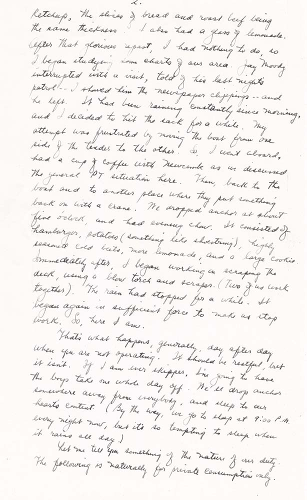 William Adelman's final letter to his wife, dated Dec. 1, 1944, page 2. William Ira Adelman Collection, Detre Library & Archives at the History Center.