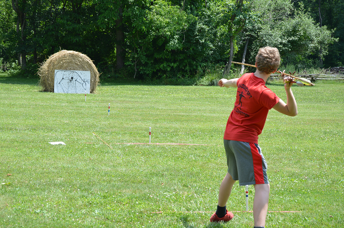 The atlatl competition at Meadowcroft.
