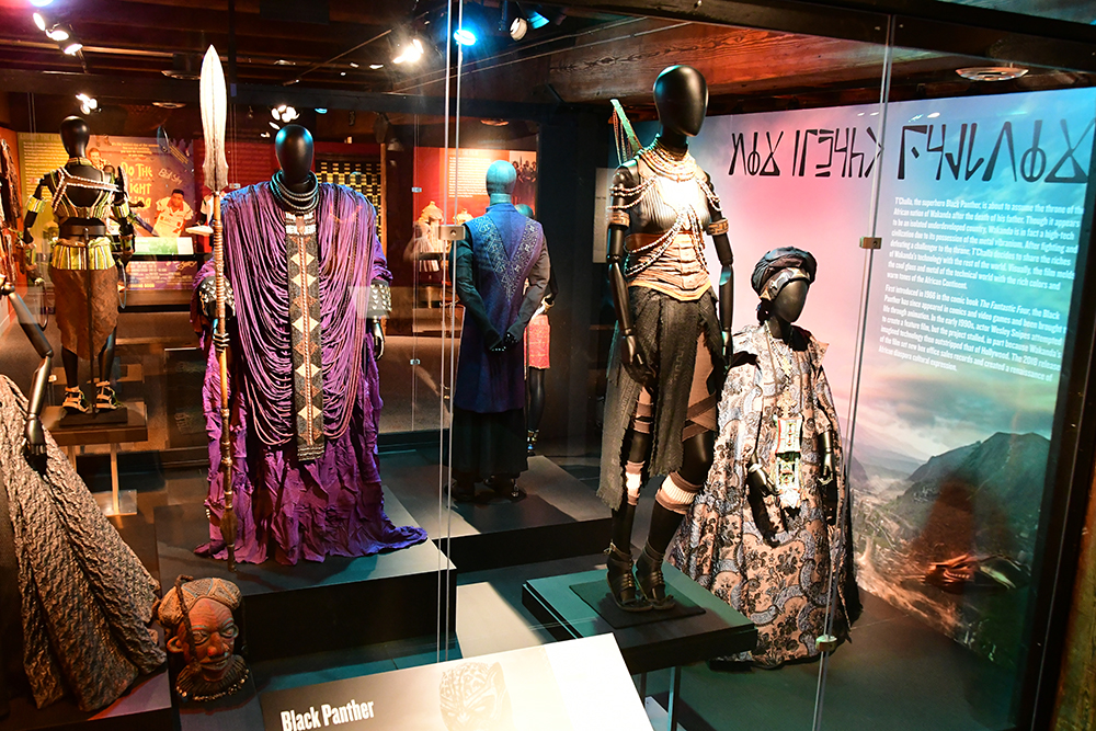 Black Panther costumes in the Heroes & Sheroes exhibit at the Heinz History Center.