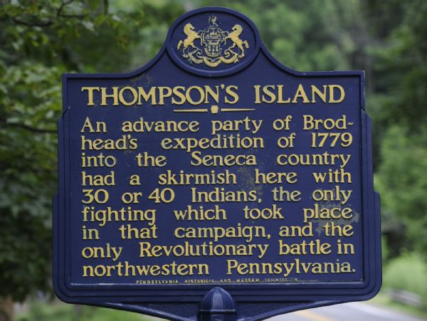 Thompson's Island sign
