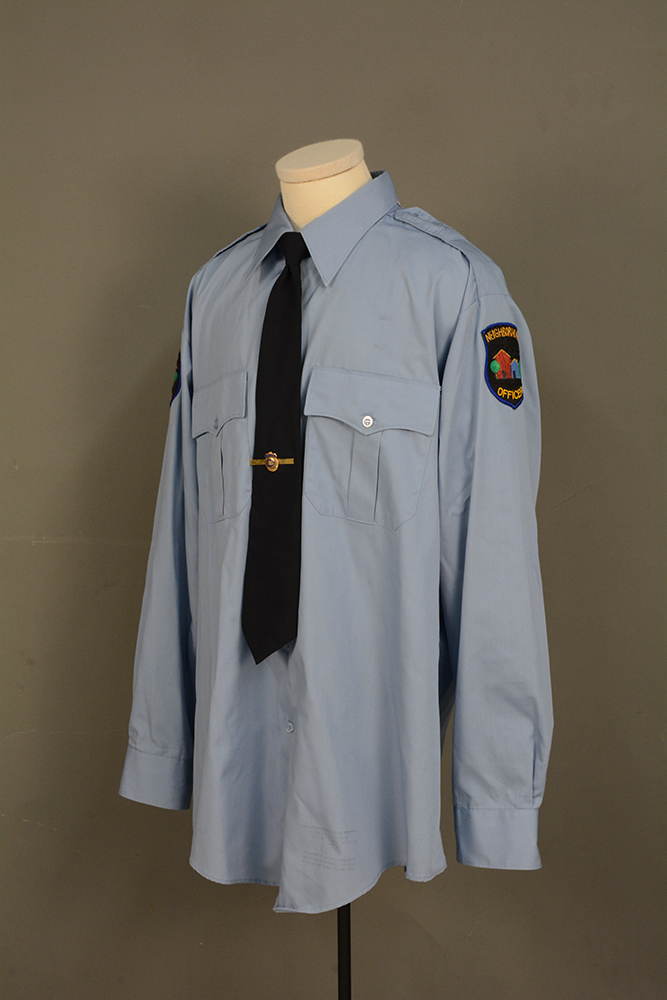 Officer Clemmons shirt and tie, c. 1990.