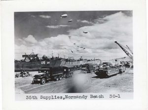 ALT:35th Supplies, Normandy Beach, Pittsburgh's WWII Photo Album