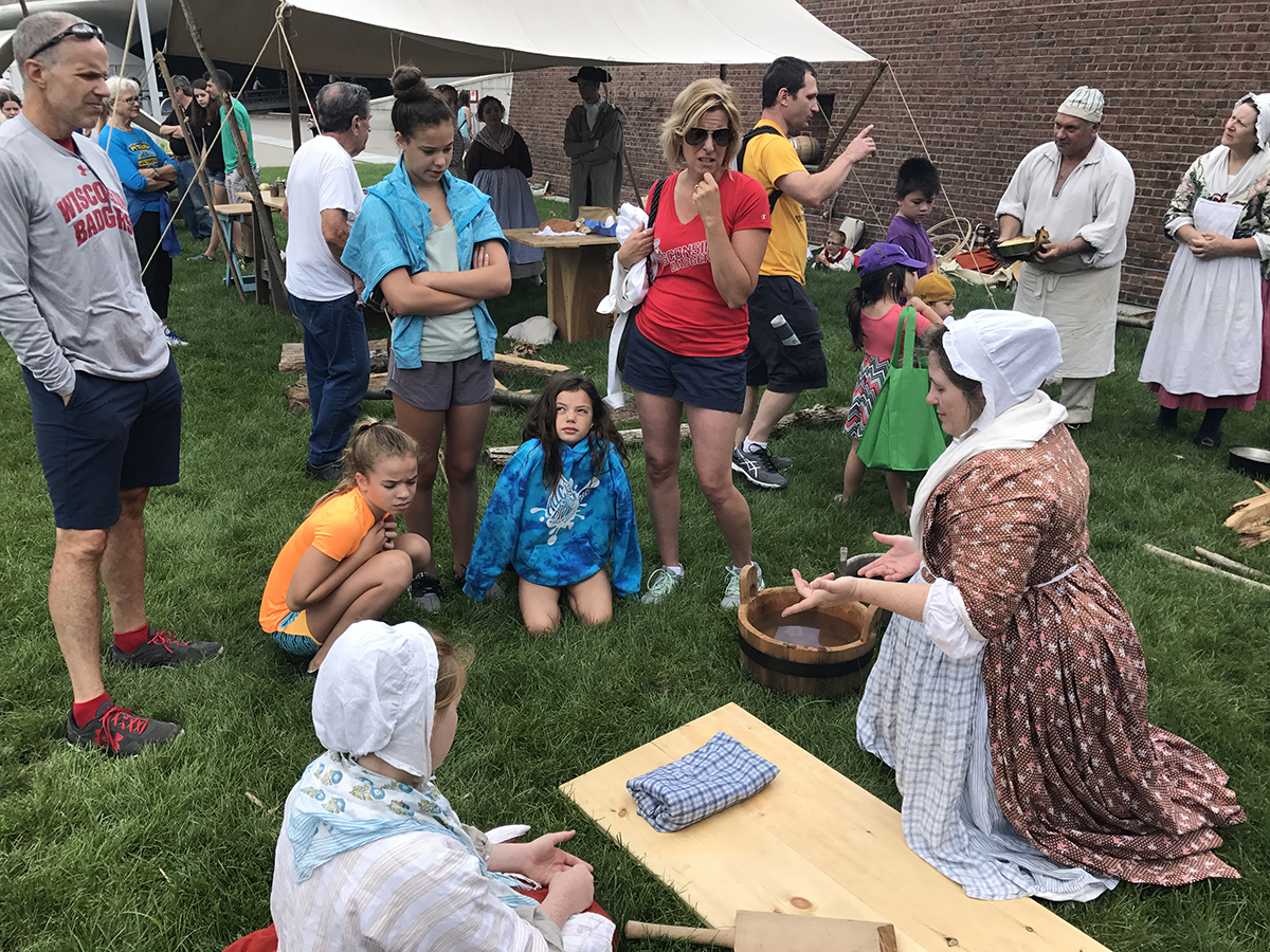 Laundry Demonstration at the Fort Pitt Museum