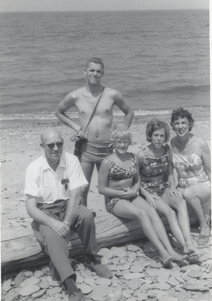 Taylor family vacation at Lake Erie, c. 1950s.