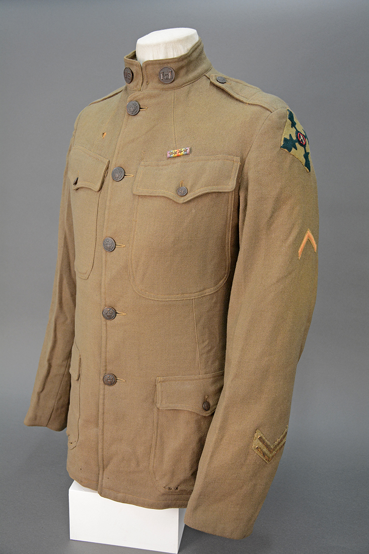 Gibson's uniform jacket. Andrew Masich collection, photo by Liz Simpson.