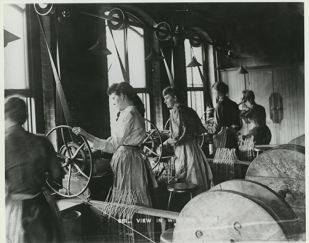 Women workers in the Westinghouse Electric Corporation winding room, early 1900s.