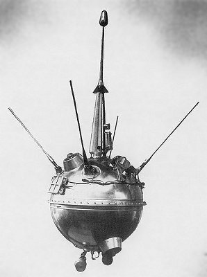 Image of the Soviet Luna 2 probe, 1959. Courtesy of NASA.