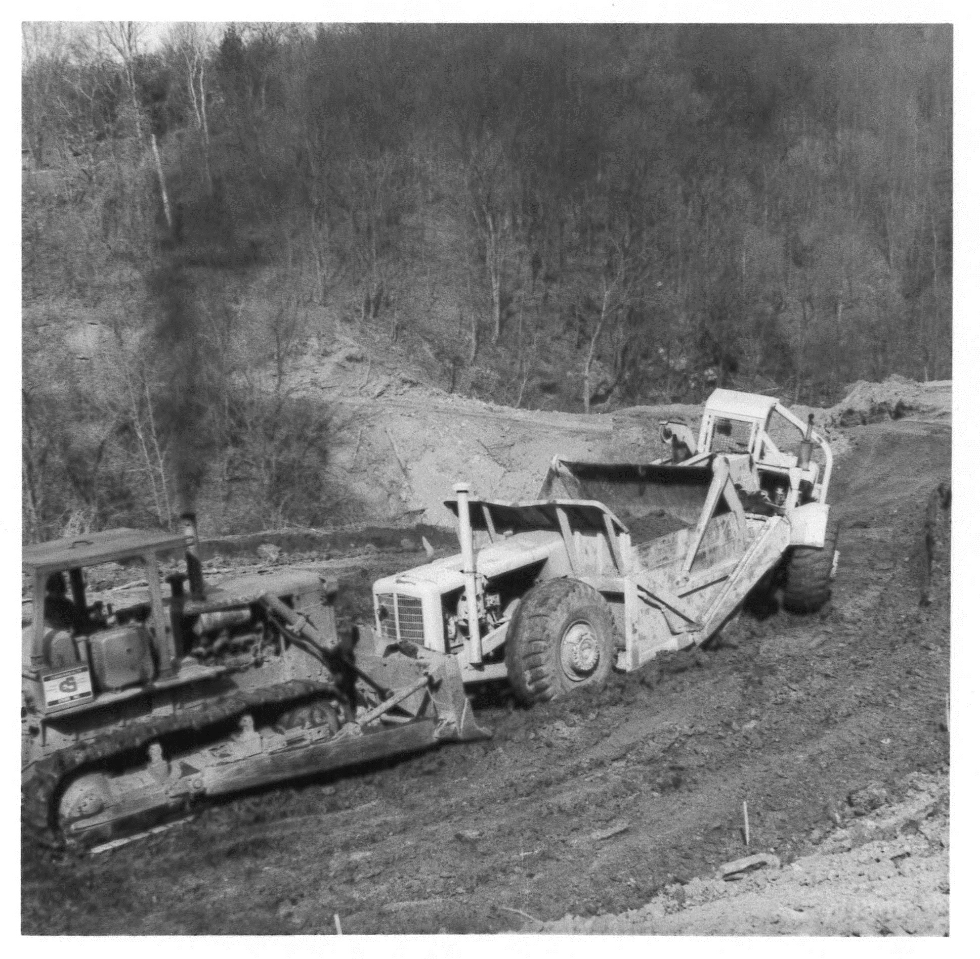 Albert promoted a Rural Abandoned Mine Project (R.A.M.P.) on the Meadowcroft property to regrade a sagging section of hillside that was threatening Meadowcroft Road. Albert Miller Papers and Photographs, MSS 1095, Meadowcroft Rockshelter and Historic Village.