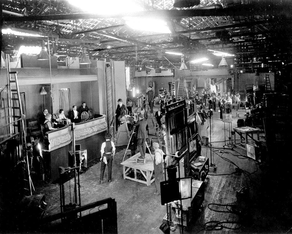 A Selznick Studios production filming in Fort Lee, New Jersey, 1920. Courtesy of the Fort Lee Film Commission.
