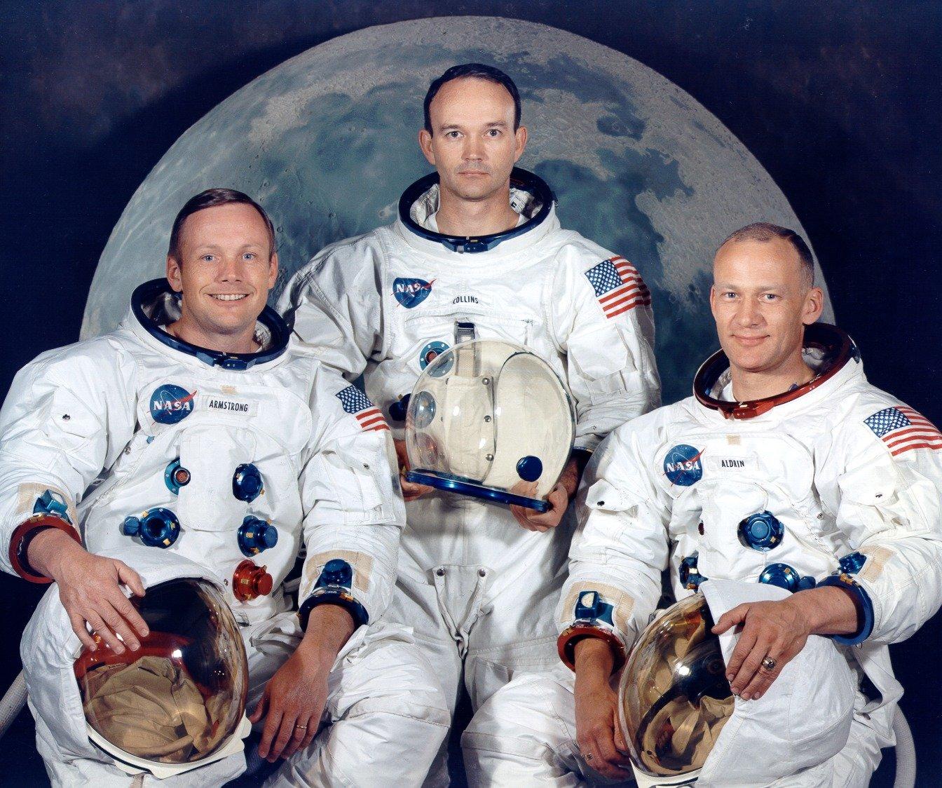 The Crew of Apollo 11, 1969. Courtesy of NASA.