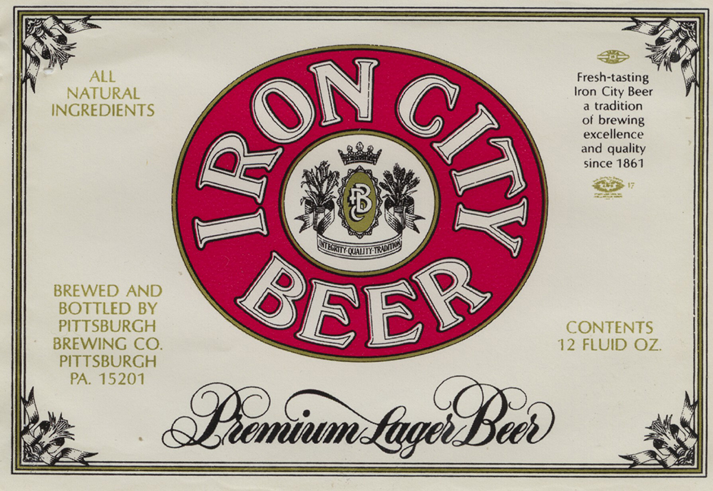 Iron City Beer was started by a German immigrant to Pittsburgh, Edward Frauenheim, in 1861. Pittsburgh Brewing Company, MSS 245, Detre Library & Archives at the History Center.