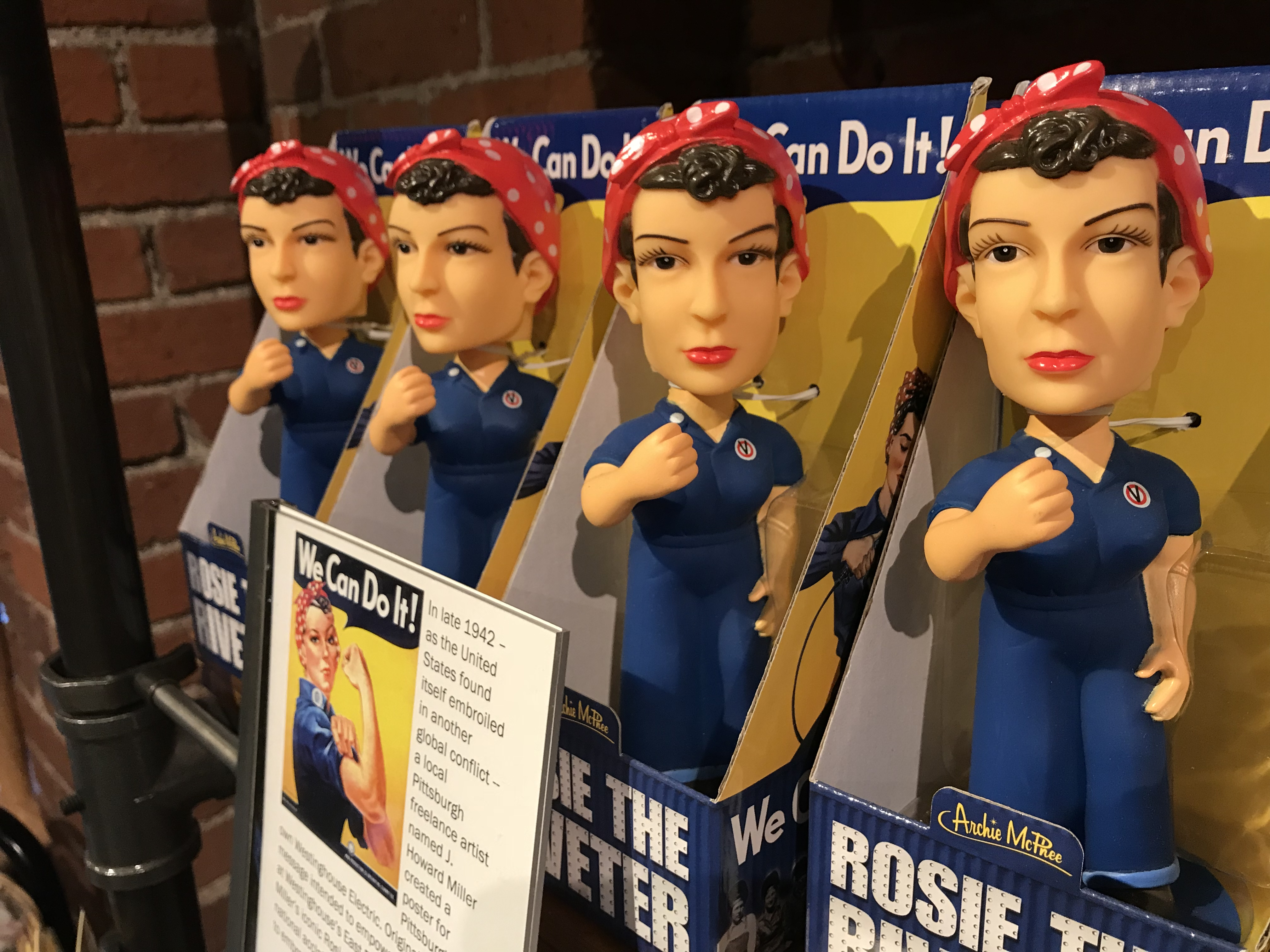 Rosie the Riveter Bobblehead | History Center Museum Shop