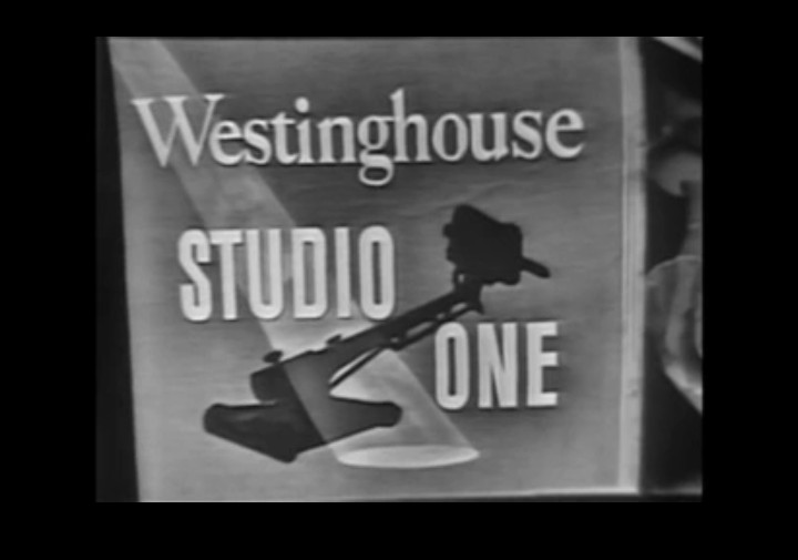 The title card for Westinghouse's TV anthology show, Studio One, 1952.