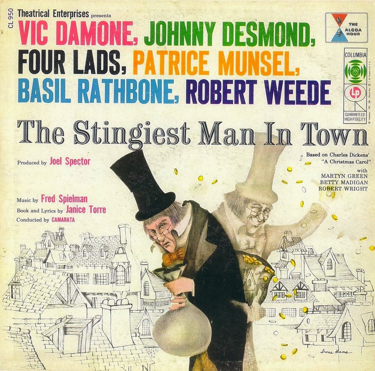 "Soundtrack album from ""The Stingiest Man in Town,"" The Alcoa Hour and Columbia Records, 1956."