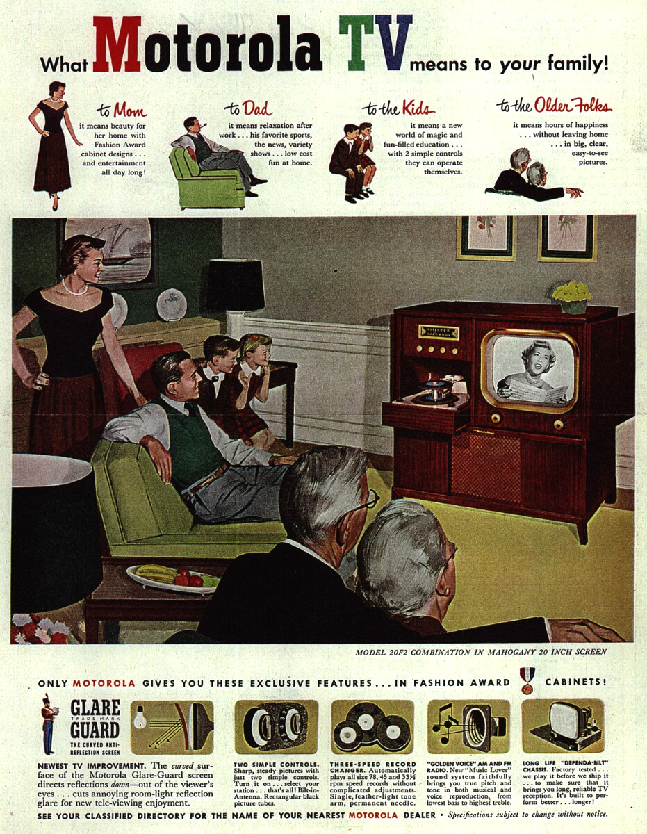 """What Motorola means to your Family,"" television advertisement, 1951."