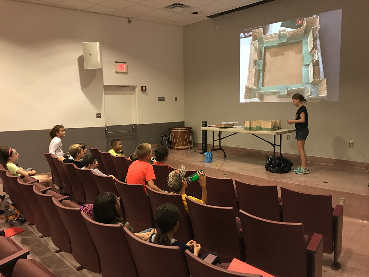 Students designed their own fort and defended their project in the museum's auditorium. | Fort Pitt Museum