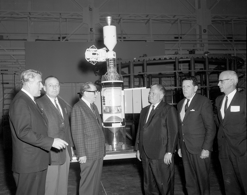 House Committee on Science and Astronautics visit Marshall Space Flight Center, March 9, 1962.