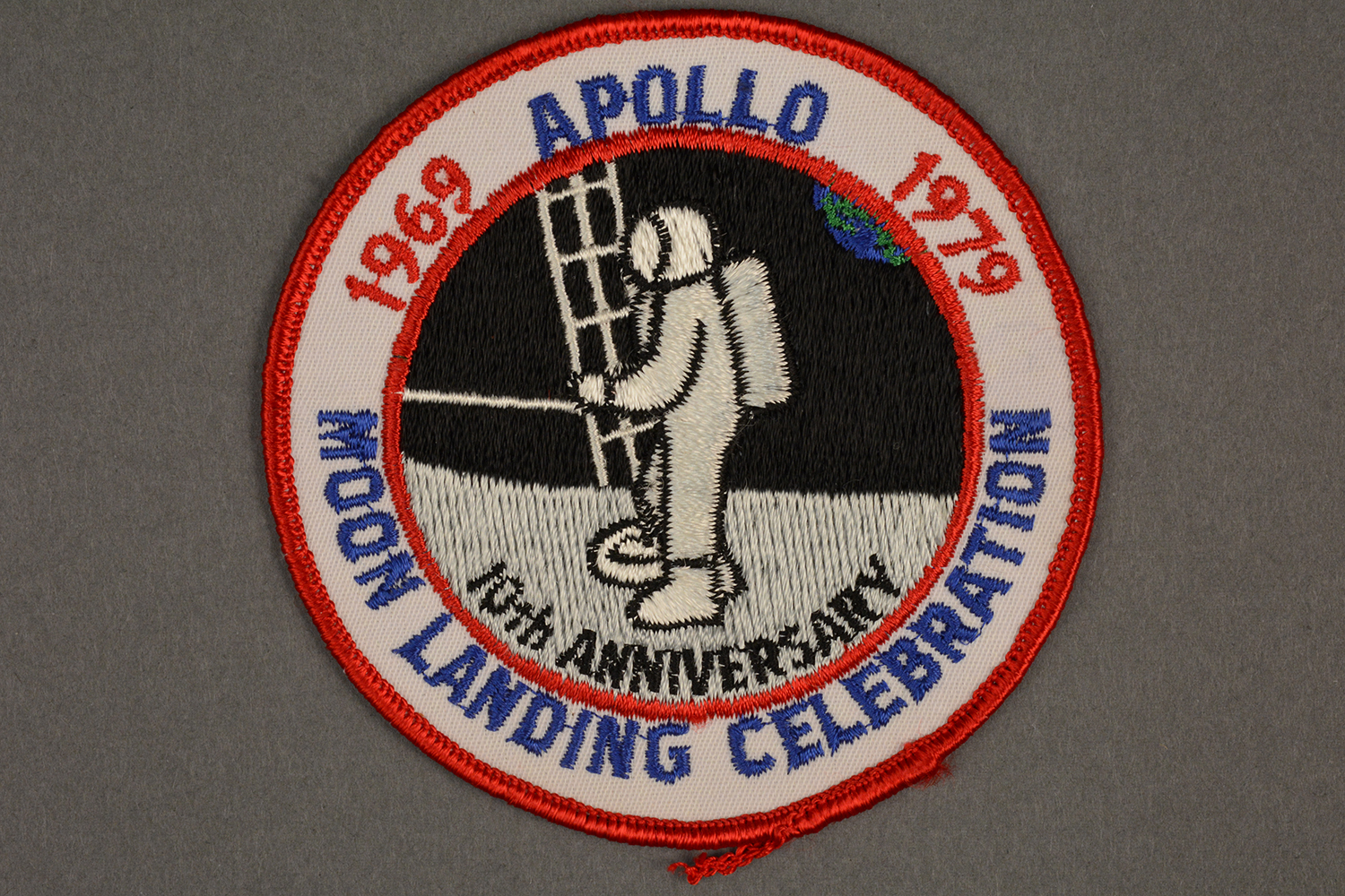 10th Anniversary patch from Apollo Moon celebration, 1979.