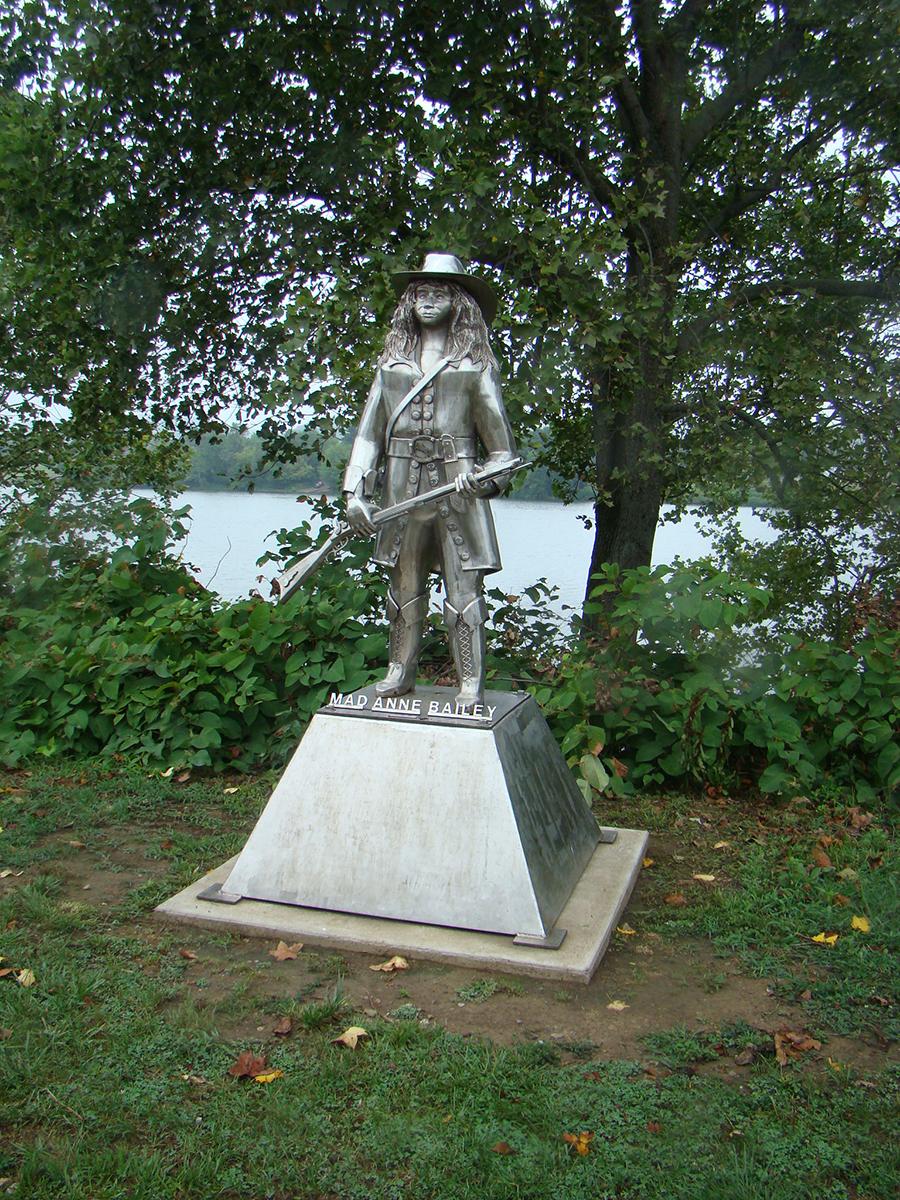 Statue of Anne Bailey, also known as Mad Anne.