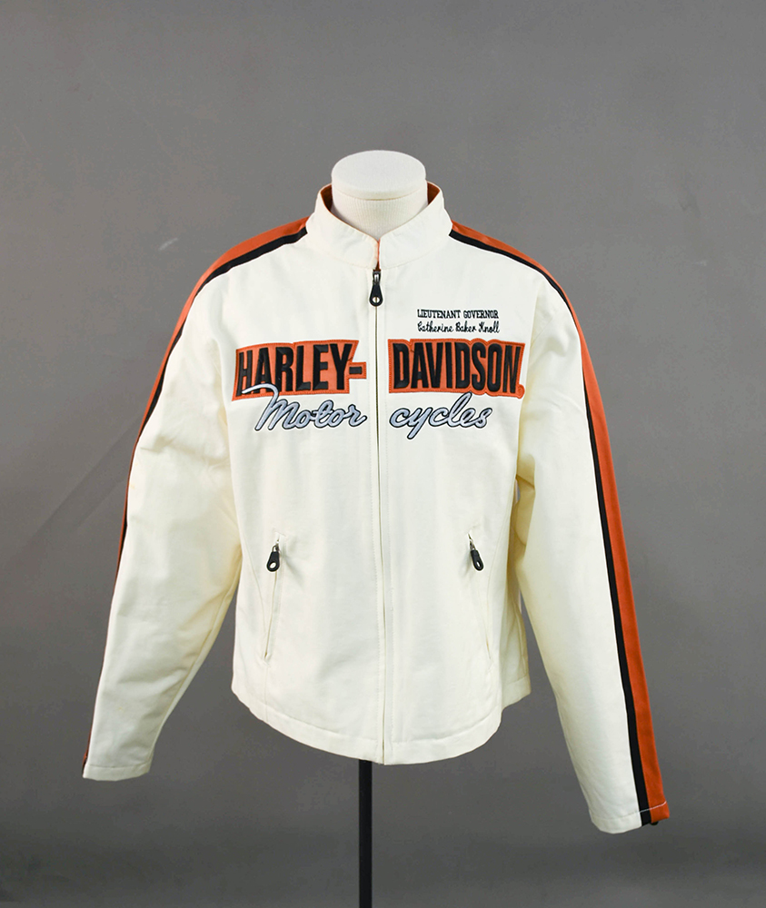 Knoll's personalized Harley-Davidson motorcycle jacket.