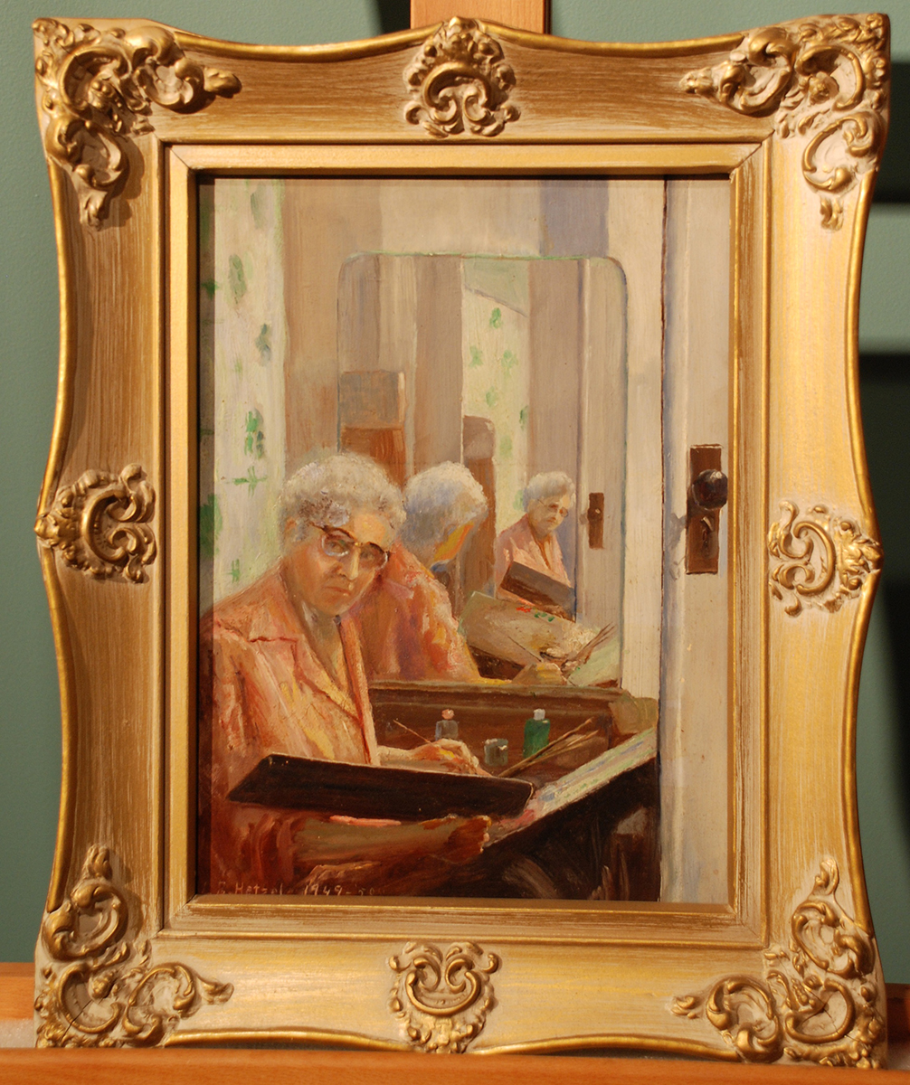 Lila Hetzel, Me (Self-portrait), 1949-1950. Heinz History Center museum collection.