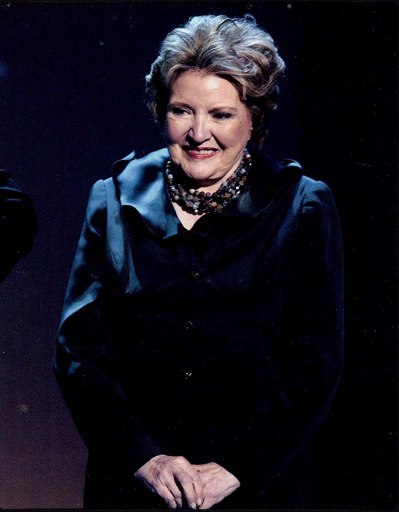 Knoll on the night of her first Inauguration, 2003.