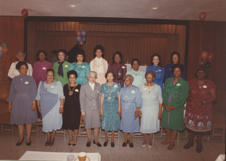 The Aurora Reading Club celebrating its 90th anniversary in 1984.