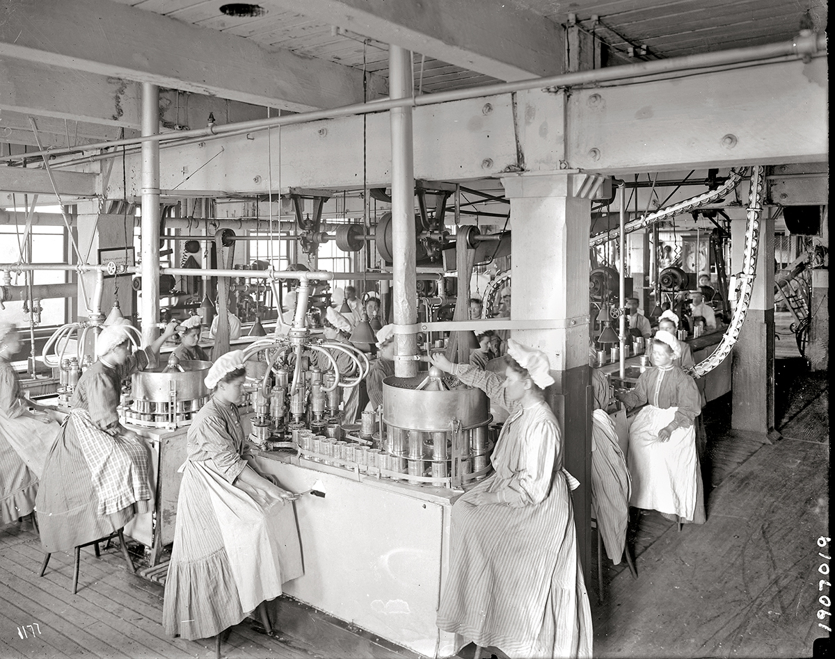 Baked beans department, 1907.