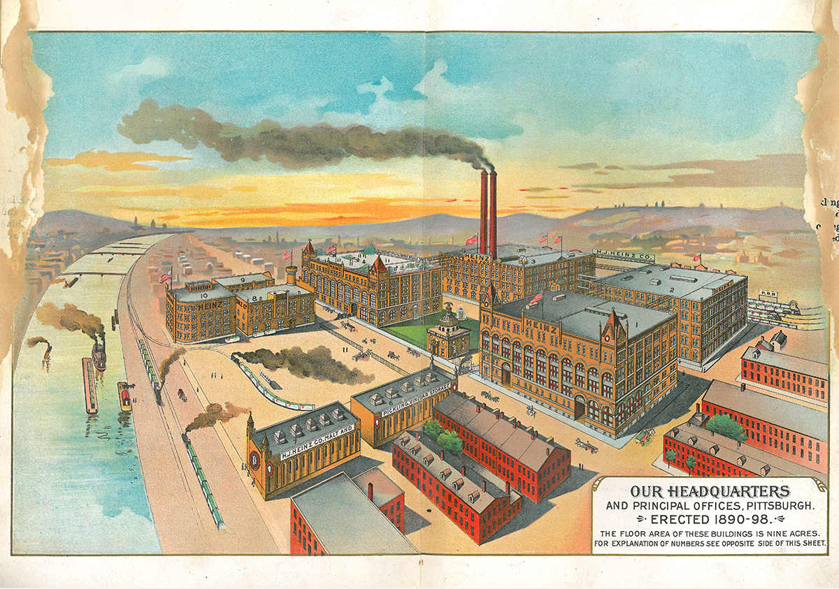 Heinz factory, featured in 1895 catalog.
