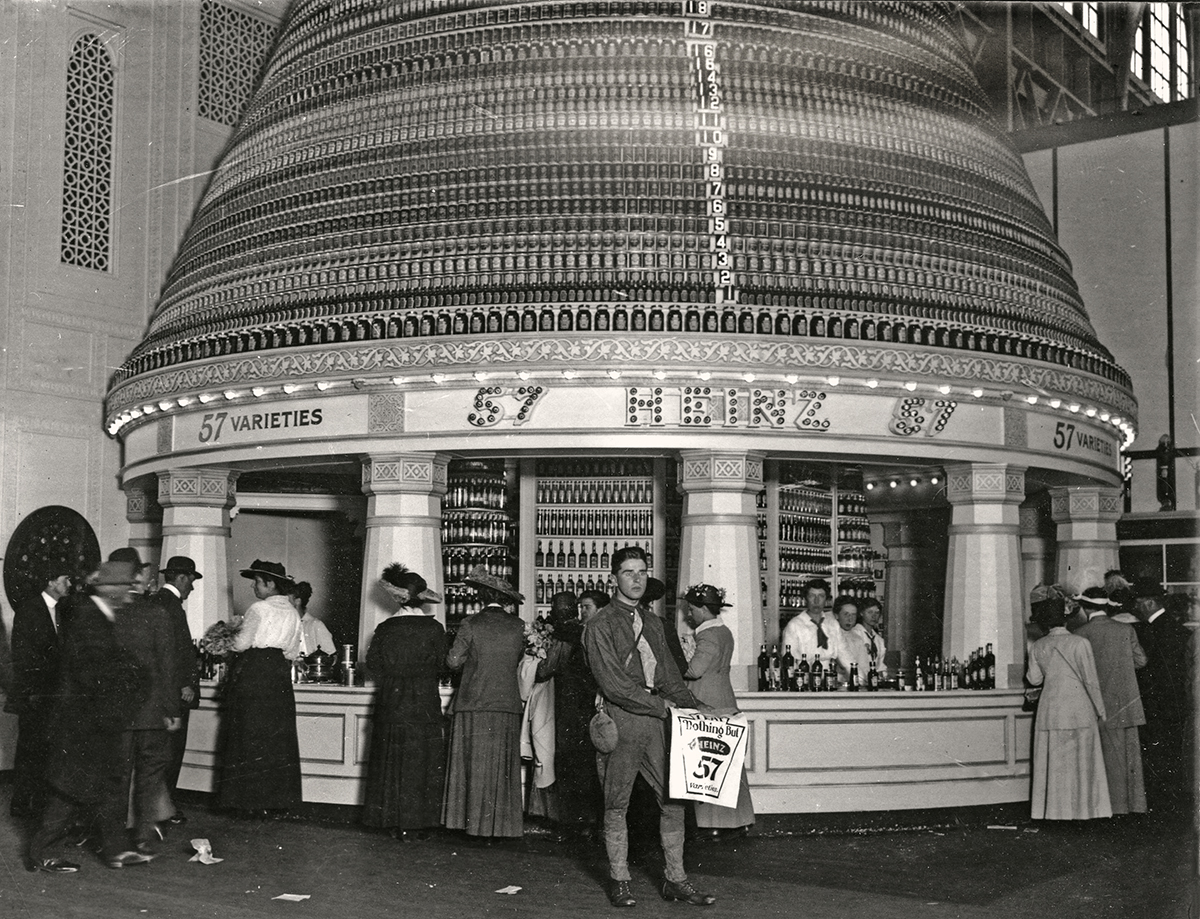 Heinz display at the Panama-Pacific International exposition in San Francisco, 1915.