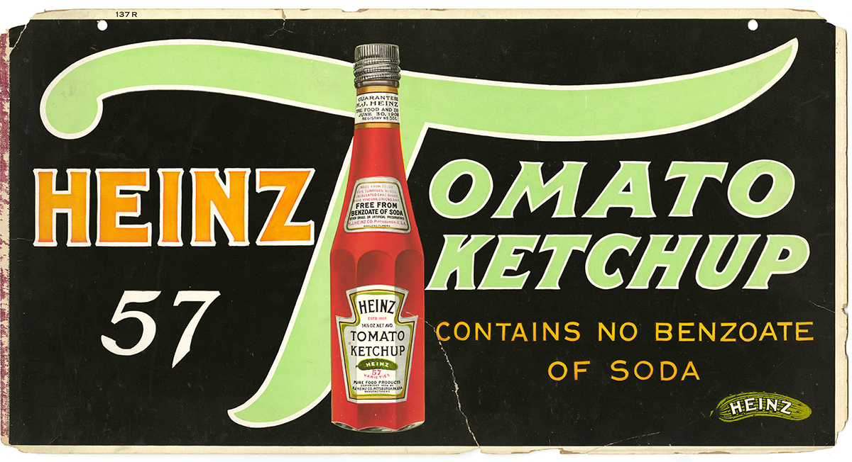Heinz ketchup trolley sign, c. 1915.