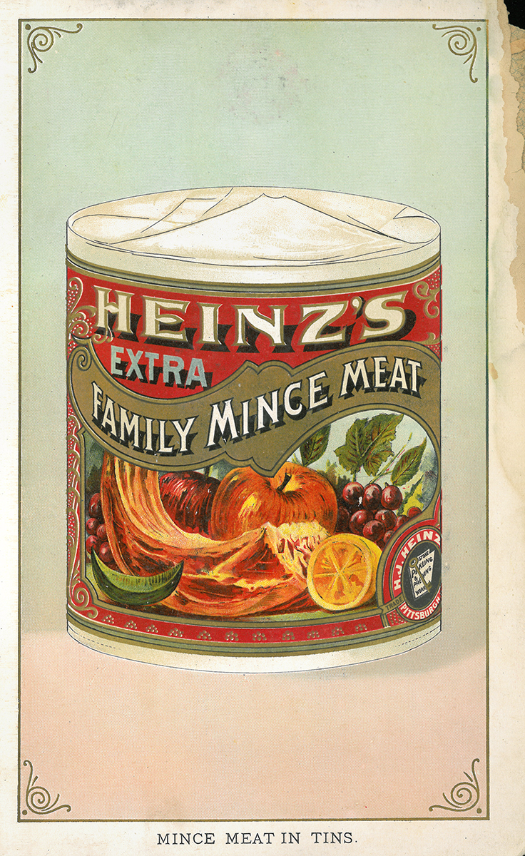 Heinz mincemeat, catalog illustration, 1895.