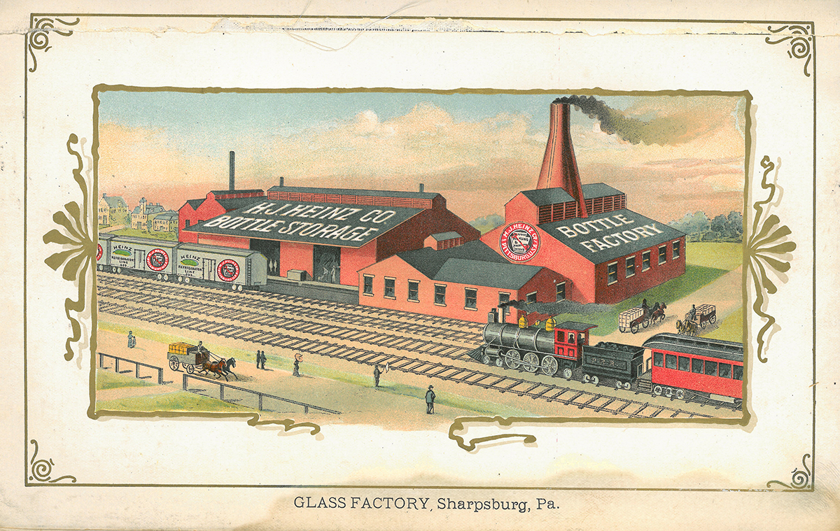 Sharpsburg glass factory, catalog illustration, 1895.