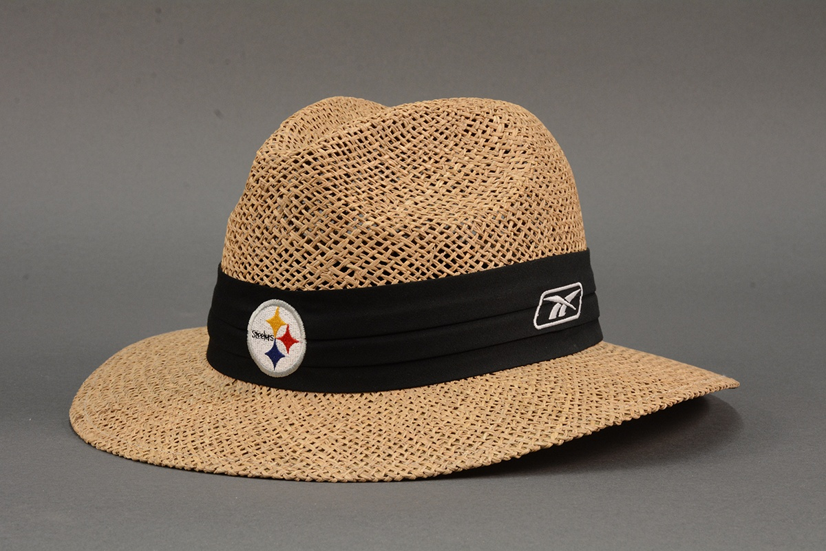 Bill Cowher's Pittsburgh Steelers straw hat, 2004