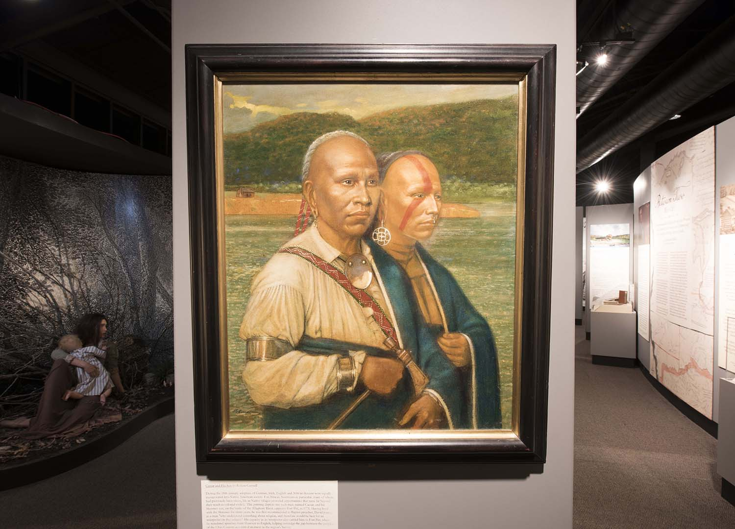 Caesar and His Son, a painting by Pittsburgh artist Robert Connell.