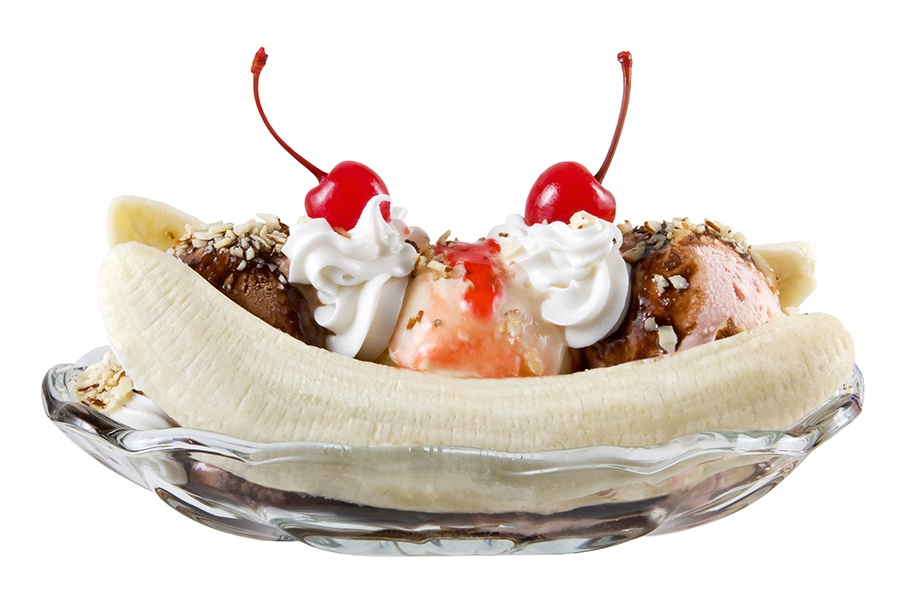 The banana split was created in a Latrobe, Pa. pharmacy in 1904.