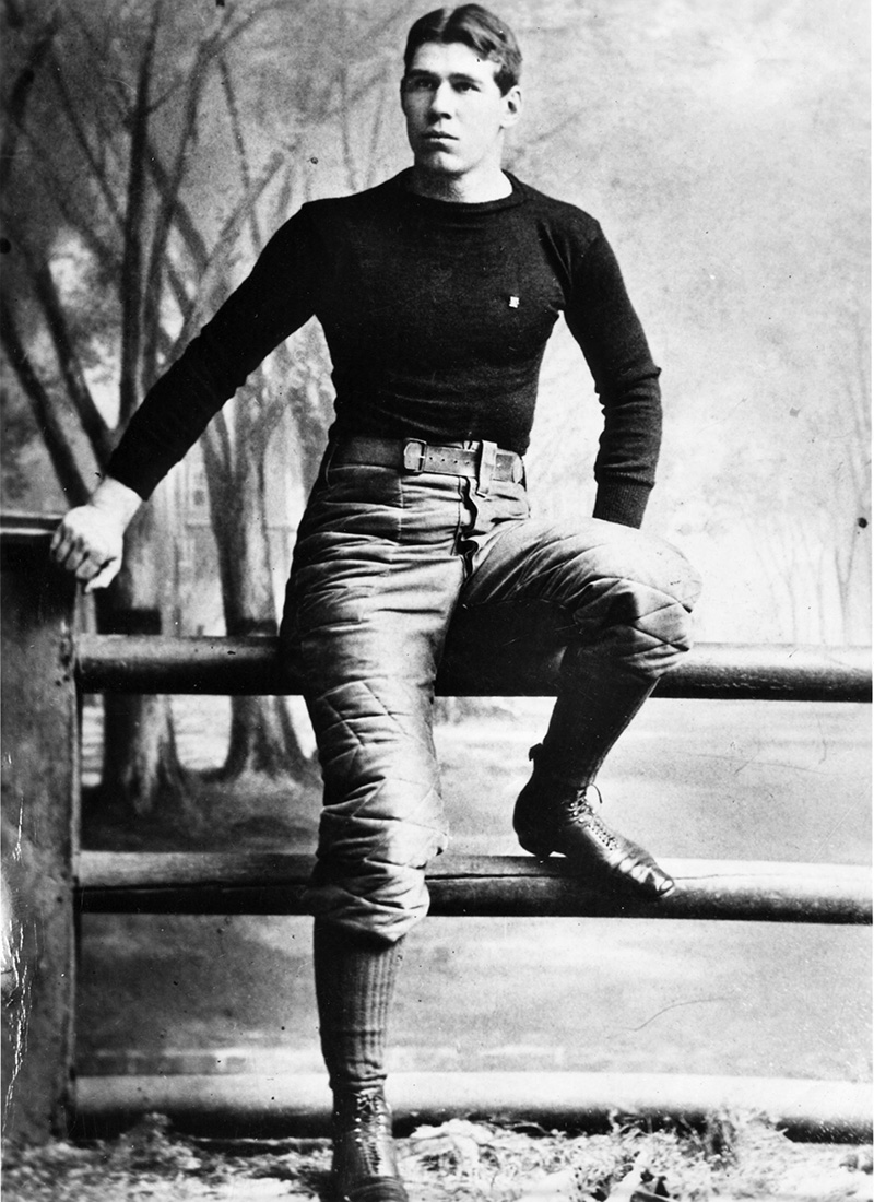 """Pudge"" Heffelfinger became the first professional football player in 1892. Photo courtesy the Pro Football Hall of Fame."
