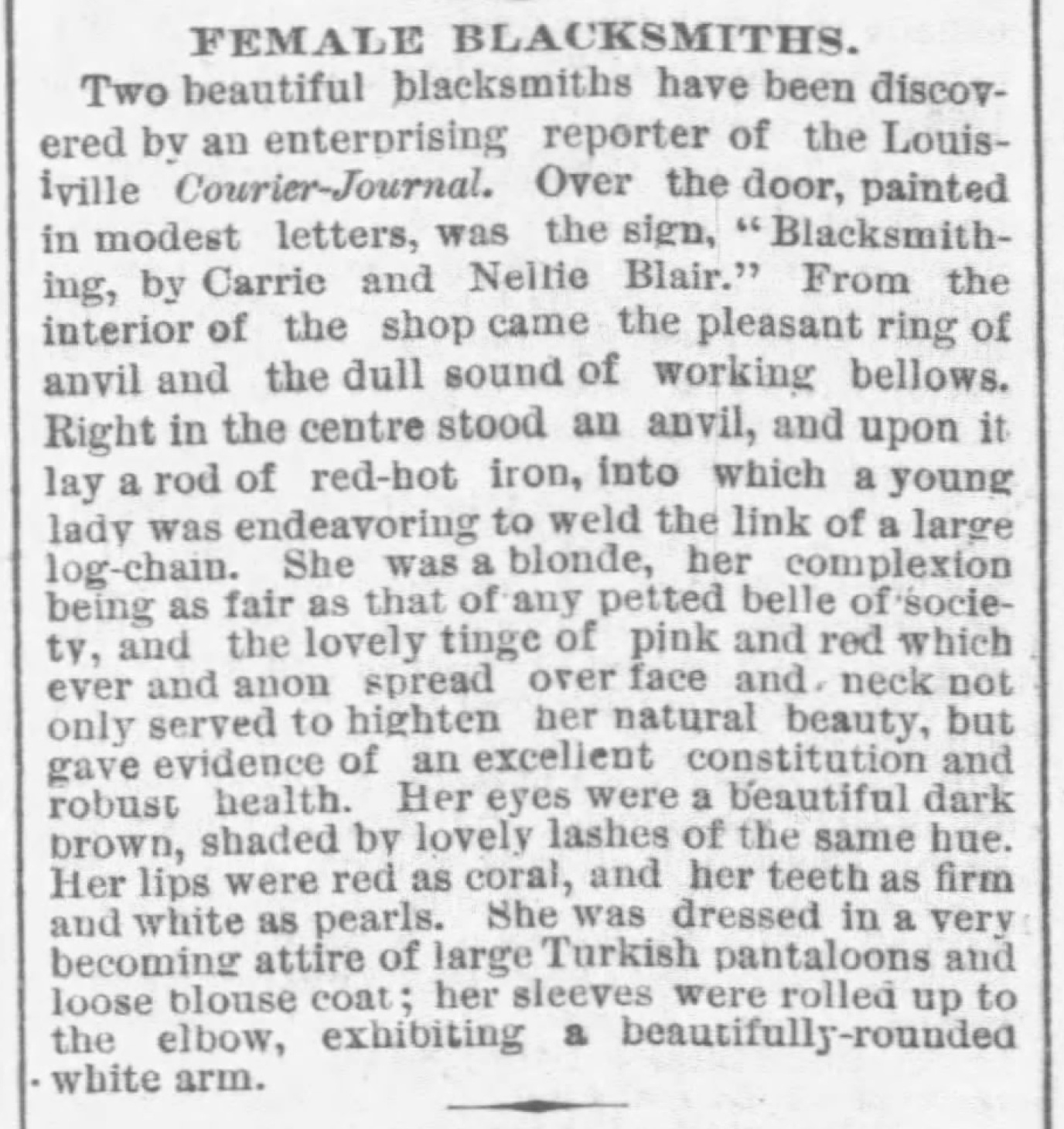 Article published in the Chicago Tribune, Chicago, Illinois, May 13, 1879.