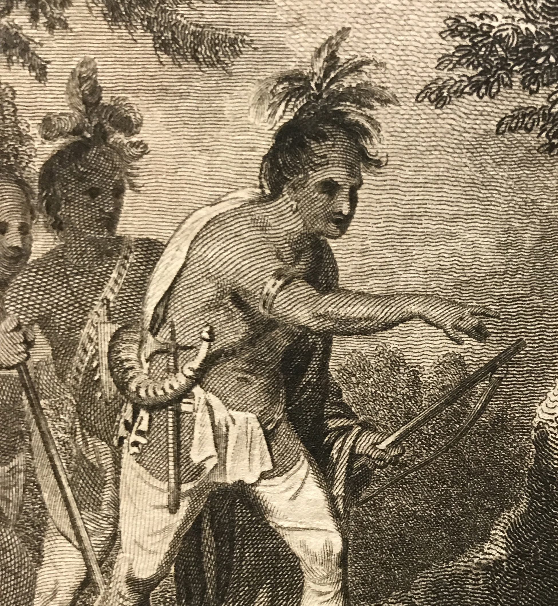 Detail from an 18th-century English engraving. Private Collection.