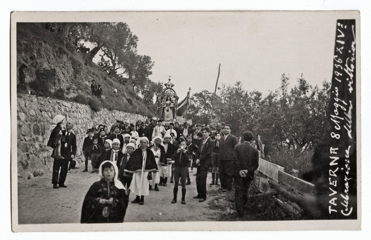 Procession in Taverna, Italy, 1936. Gift of Michael Cosentino. Italian American Collection at the Heinz History Center.