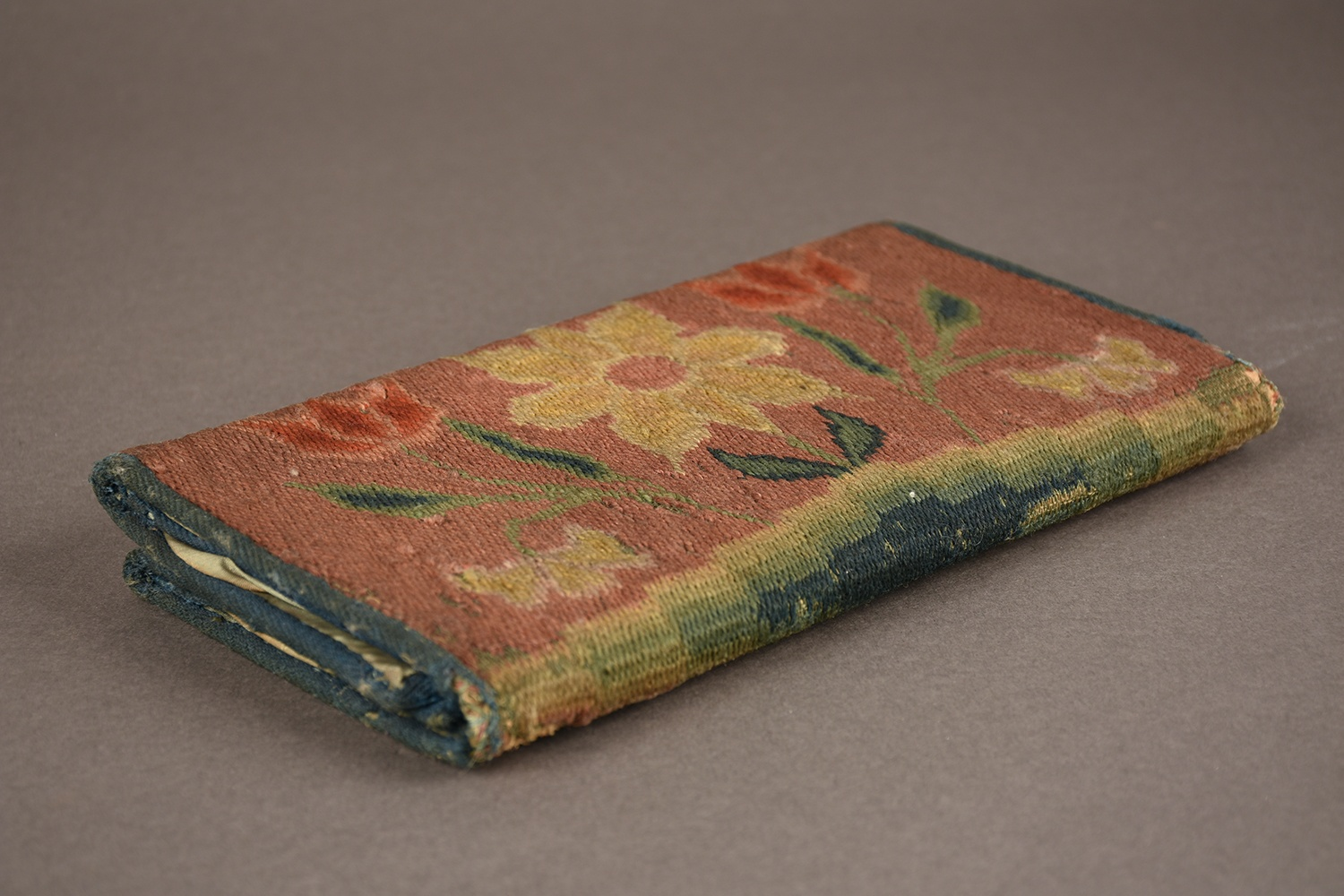 Embroidered Document Case, 1775. From the Heinz History Center Museum Collections.