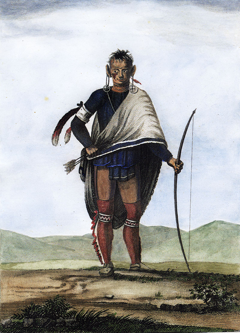 Victor Collot, Indian of the Nation of the Shawanoes, c. 1796.