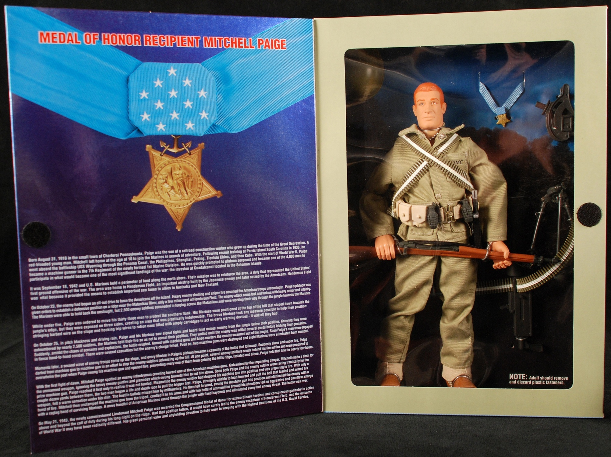 Mitchell Paige action figure, G. I. Joe Classic Collection, Hasbro, 1998. Gift of Kurt Groen. Heinz History Center museum collections.
