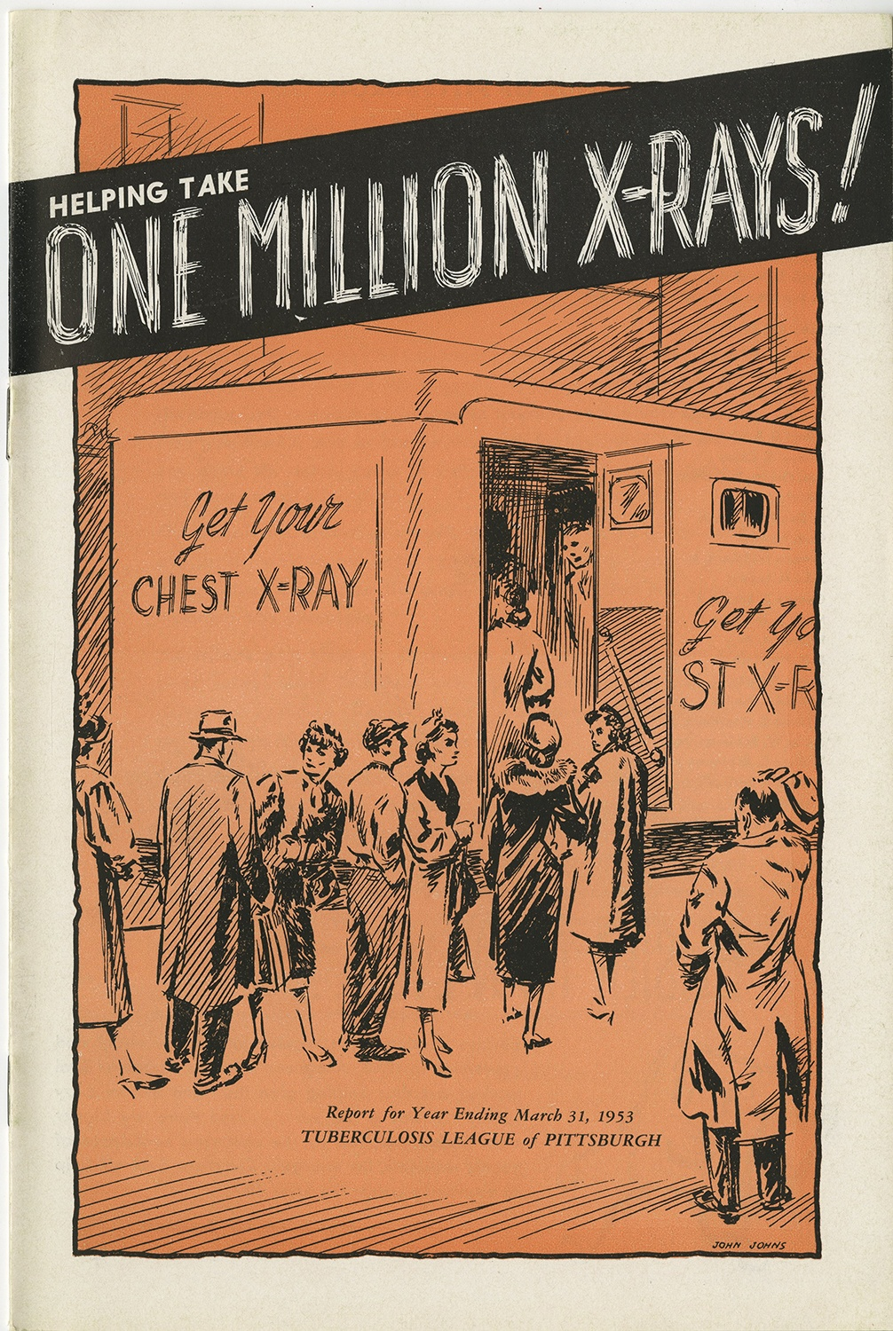 Cover of the 1953 Tuberculosis League of Pittsburgh annual report.