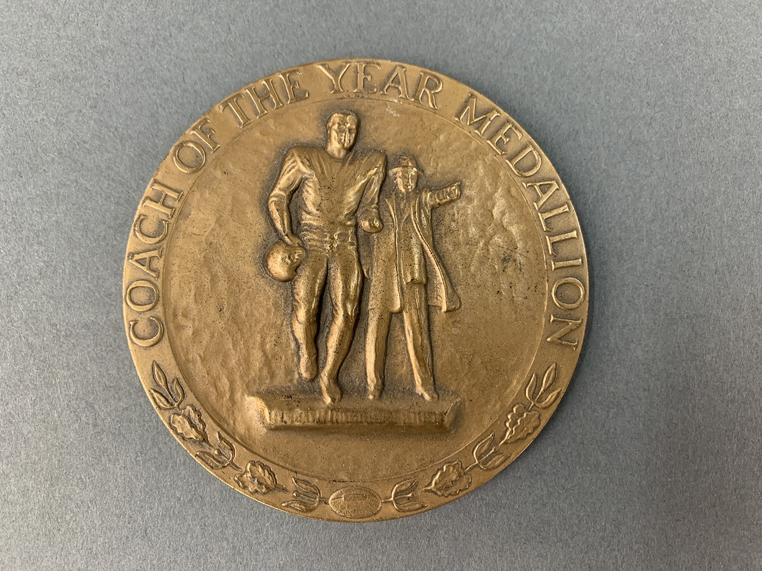 Medallion, Coach of the Year, Awarded by American Football Coaches Assoc., 1976. Courtesy of John Majors.