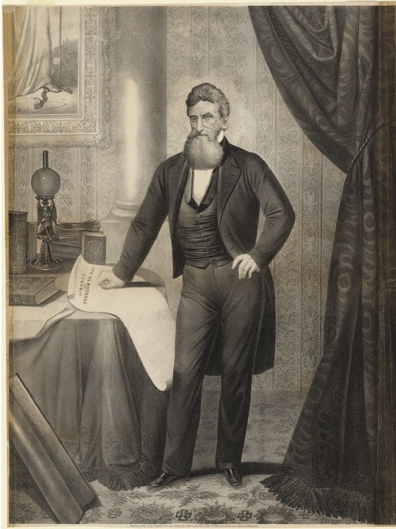 John Brown, by Anton Hohenstein after Martin Lawrence, published by John Smith, lithograph on paper, 1866. Currently on display in the exhibition Smithsonian's Portraits of Pittsburgh: Works from the National Portrait Gallery. Courtesy of the National Portrait Gallery, Smithsonian Institution.