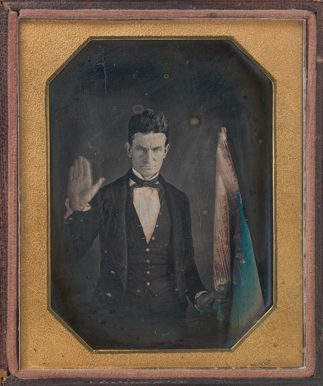 John Brown, by Augustus Washington, quarter-plate daguerreotype, c. 1846-1847. Courtesy of the National Portrait Gallery, Smithsonian Institution.